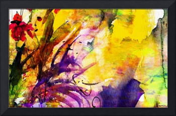 Abstract Floral Spray Intuition Watercolor
