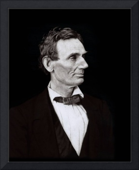 Abraham Lincoln, President black background