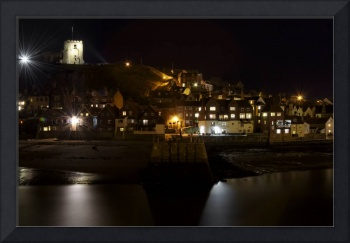 Whitby East Cliff By Night (35611-RDA)