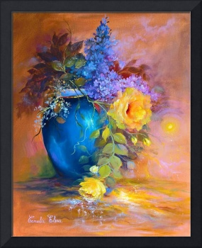 Lilac in blue vase,2017,40x50
