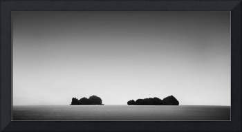 Two islands minimal photography