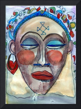 Abstract African Woman Figurative Portrait