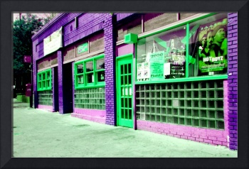 ATLANTA STREET SCENE--PURPLE & GREEN