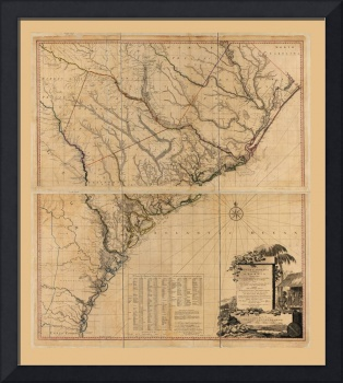 Map of South Carolina and Part of Georgia (1780)