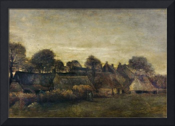 Farming Village at Twilight by Van Gogh