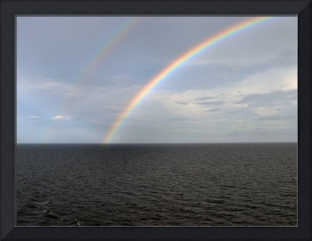 Double Rainbow at Sea