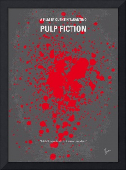 No067 My Pulp Fiction minimal movie poster
