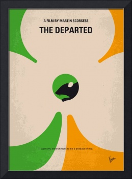 No506 My The Departed minimal movie poster
