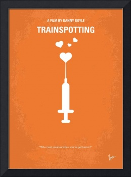 No152 My TRAINSPOTTING minimal movie poster