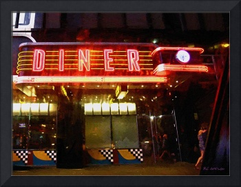 Night Walk Past the Diner