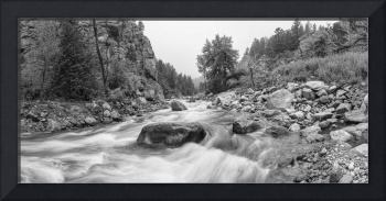 Fishermans Panorama Colorado Canyon View BW