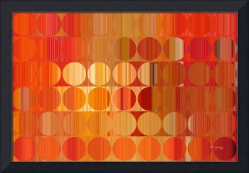 Circles and Squares 58. Orange Fire