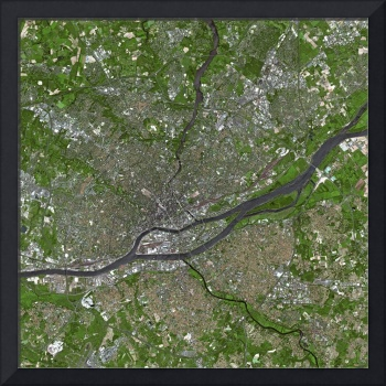 Nantes (France)  : Satellite Image