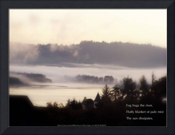 foggy sunrise over the Columbia River 2 with haiku