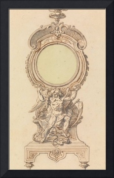 Gilles-Marie Oppenord~Design for a Clock Case