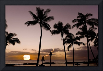 Signed-Hawaiian-Beach-Tiki-Sunset