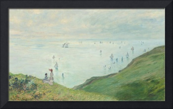 Cliffs at Pourville by Monet