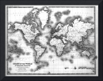 Black and White World Map (1911)