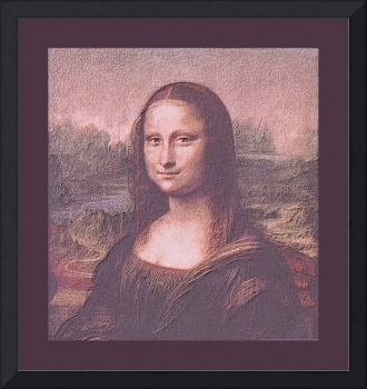 Mona Lisa 1504 AD cropped w/ medium border