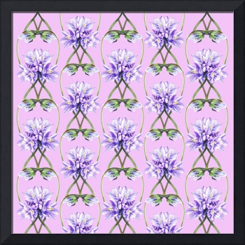 Purple Flowers On The Lilac Field Pattern