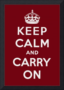 Red Keep Calm And Carry On 2