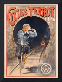 Poster advertising Cycles Terrot, printed by P. Ve