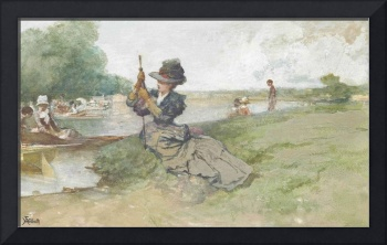 Ferdinand Heilbuth,  Boating on the river