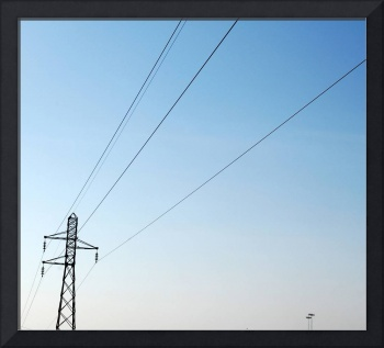 Electric pylon by the highway