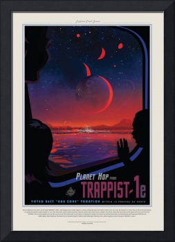 NASA Trappist Travel Poster