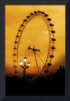 London Eye in sepia