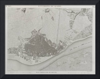 Vintage Map of Cairo Egypt (1809)
