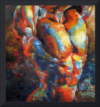 ABSTRACT NUDE MALE FRONT
