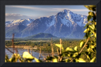 Scenic view of Pioneer Peak near Palmer, Alaska