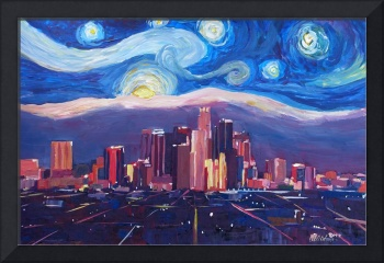 Starry Night in Los Angeles - Van Gogh Feeling wit