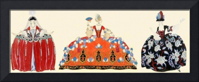 THREE ROCOCO LADIES,BEAUTY,FASHION COSTUME DESIGN