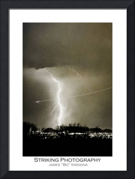Bo Trek - Lightning Strike - City Lights - Poster