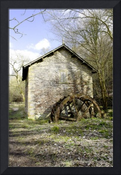 Mill and Water-wheel near Ashford-in-the-Water