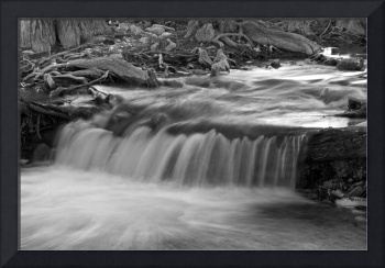 Creek Flowing 3: Black and White