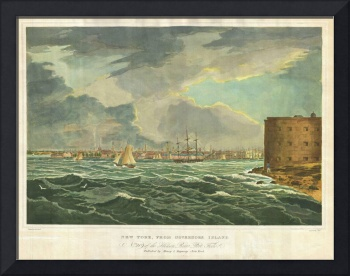 Vintage Painting of New York City (1825)
