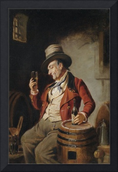 Old Man Drinking a Pint
