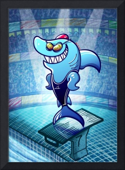 Olympic Swimmer Shark