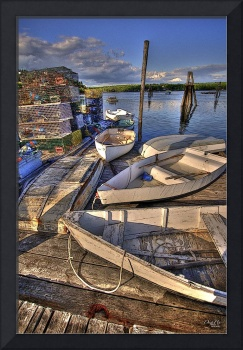 Row Boats and Lobster Traps in Pemaquid Harbor