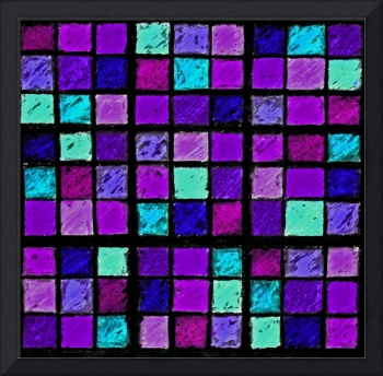 Sudoku Abstract Purple Turquoise