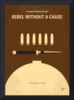 No318 My Rebel without a cause minimal movie poste