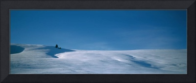 Panoramic view of a snow covered landscape