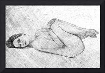 Nude Beauty in Drawing Style