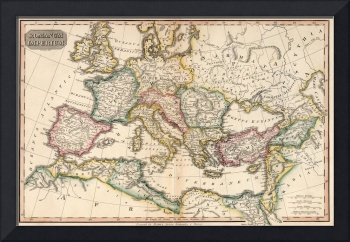 Vintage Map of The Roman Empire (1815)
