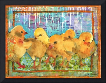 chicken art | Charming Chicks | bird art |