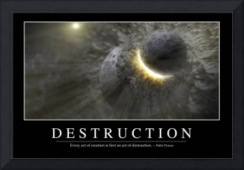 Destruction: Inspirational Quote and Motivational