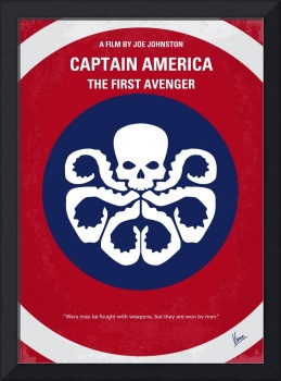 No329 My CAPTAIN AMERICA - 1 minimal movie poster